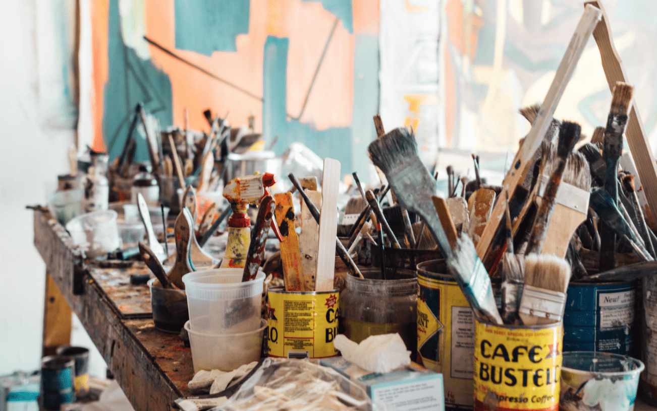 Paint Brushes Clutter