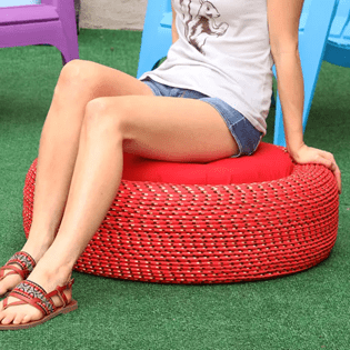 how to dispose of car tyres - turn them into seats